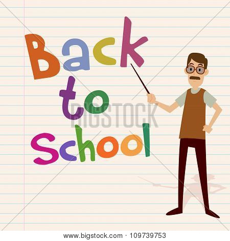 Back To School With Teacher Character