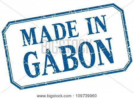 Gabon - Made In Blue Vintage Isolated Label