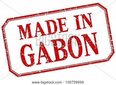 Gabon - Made In Red Vintage Isolated Label