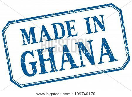 Ghana - Made In Blue Vintage Isolated Label