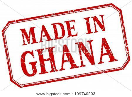 Ghana - Made In Red Vintage Isolated Label