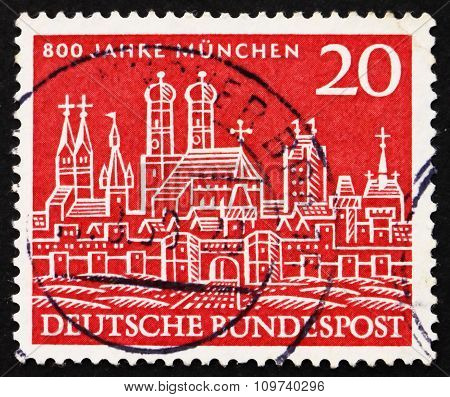 Postage Stamp Germany 1958 View Of Old Munich