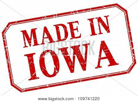 Iowa - Made In Red Vintage Isolated Label