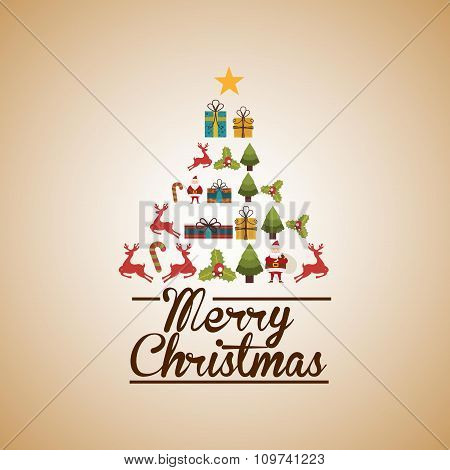 happy merry christmas design