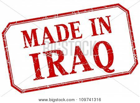 Iraq - Made In Red Vintage Isolated Label