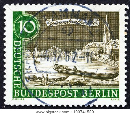 Postage Stamp Germany 1962 Spree And Waisenbrucke, 1783