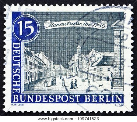 Postage Stamp Germany 1963 Mauer Street, 1780