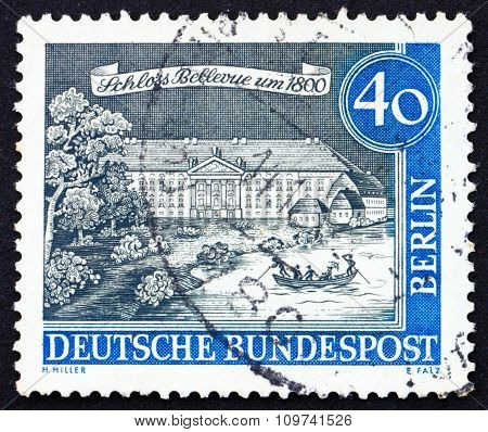 Postage Stamp Germany 1962 Bellevue Palace, 1800