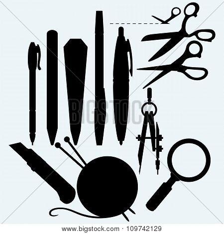 Set of stationery