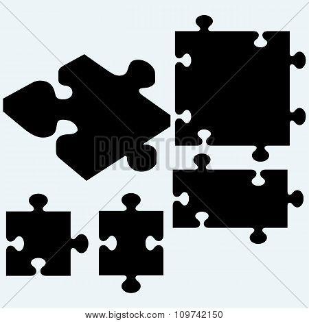 Set puzzles, jigsaw icon