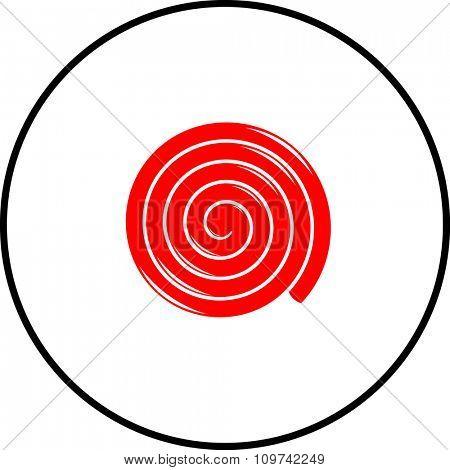 red licorice wheel symbol