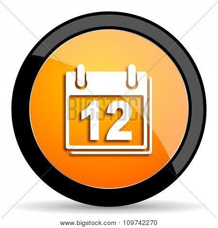 calendar orange icon