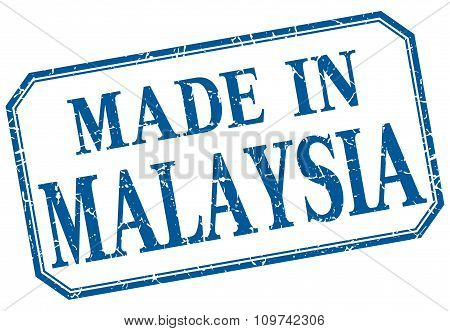 Malaysia - Made In Blue Vintage Isolated Label