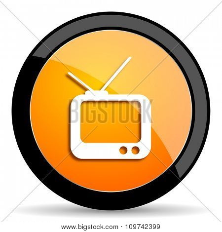 tv orange icon