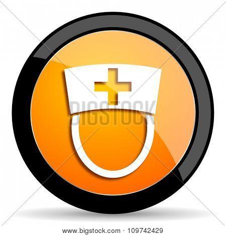 nurse orange icon