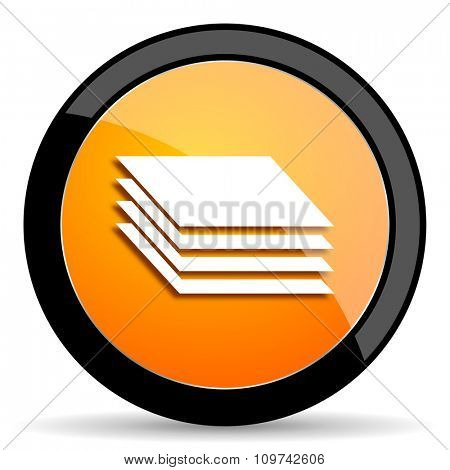 layers orange icon