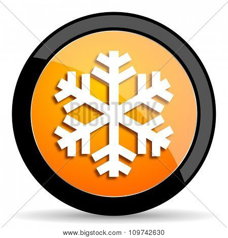 snow orange icon