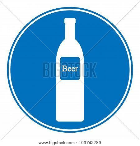 Allowed Beer Bottle Sign.