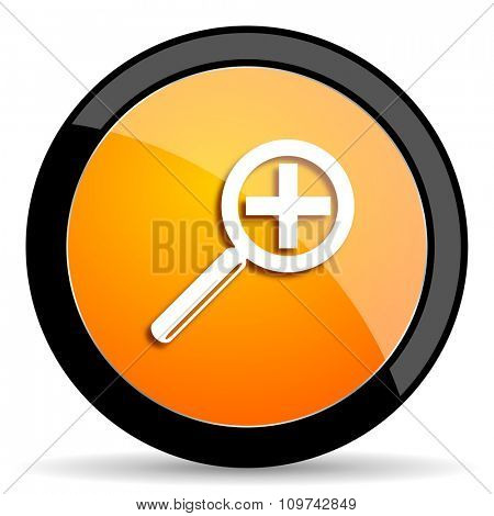 lens orange icon