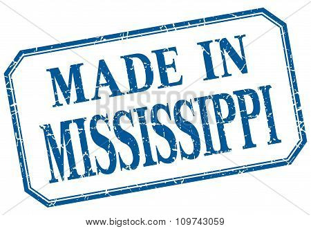 Mississippi - Made In Blue Vintage Isolated Label