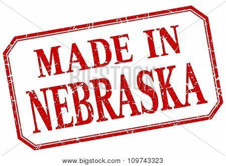 Nebraska - Made In Red Vintage Isolated Label