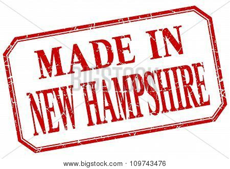 New Hampshire - Made In Red Vintage Isolated Label