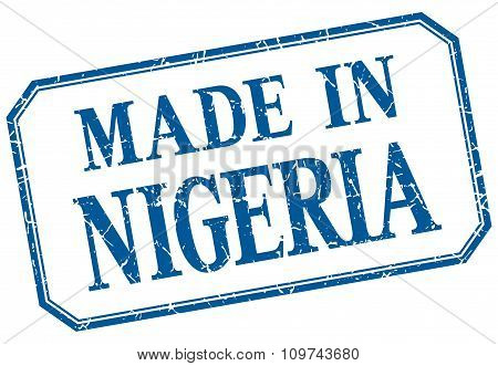 Nigeria - Made In Blue Vintage Isolated Label