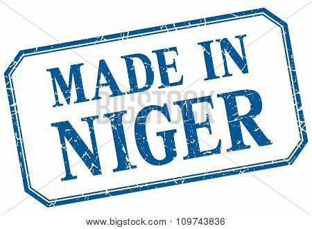 Niger - Made In Blue Vintage Isolated Label