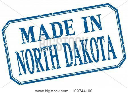 North Dakota - Made In Blue Vintage Isolated Label