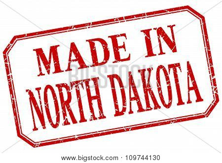North Dakota - Made In Red Vintage Isolated Label