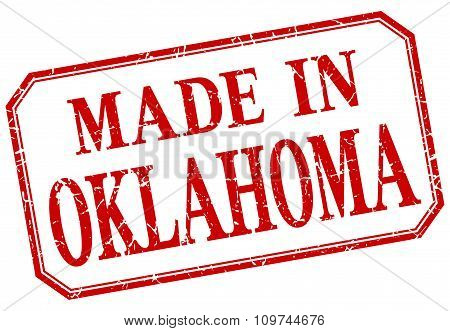 Oklahoma - Made In Red Vintage Isolated Label