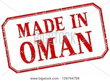 Oman - Made In Red Vintage Isolated Label