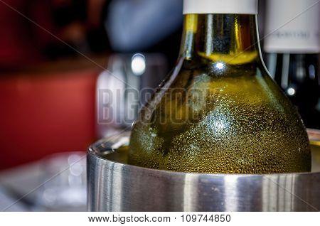 Chilled wine bottle