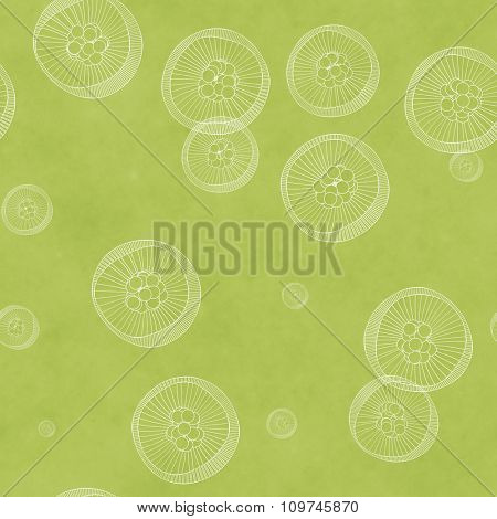 An abstract green seamless background graphic