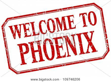 Phoenix - Welcome Red Vintage Isolated Label