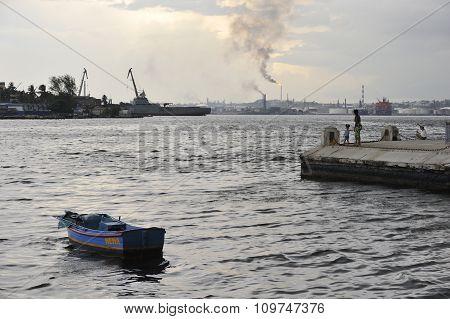 Havana bay, harbor of Havana, Cuba