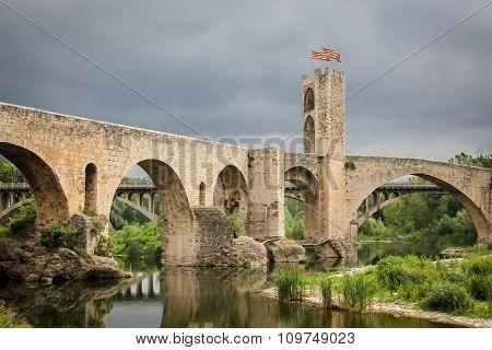 Medieval bridge in Catalonia, Spain