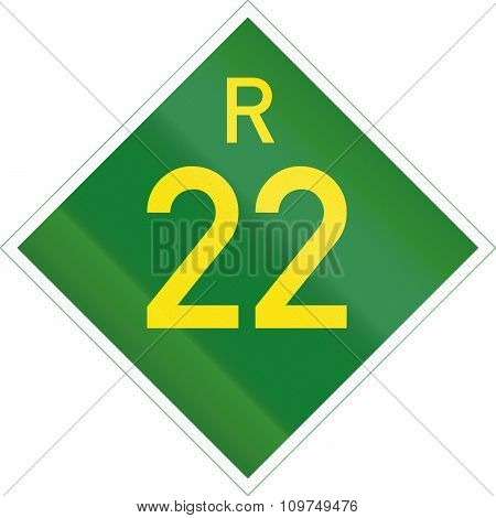South Africa Provincial Route Shield - R22