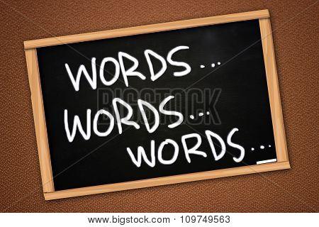 Words Concept, Written On Blackboard
