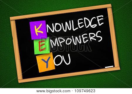 Motivational Words Concept, Knowledge Empowers You