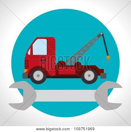 towing truck vehicle