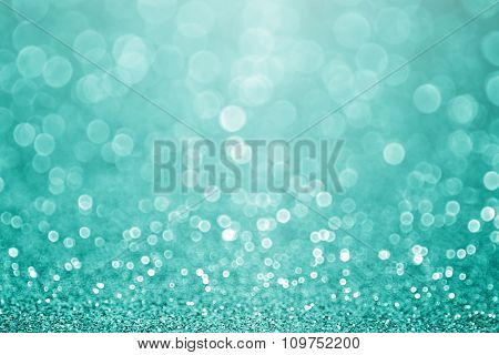 Teal Turquoise Green Glitter Sparkle Background