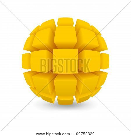 Divided Yellow Sphere