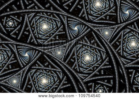 abstract fractal background, spiral