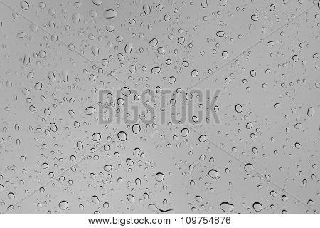 Background Of Rain Drop On Glass