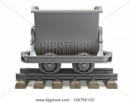 Empty mining cart