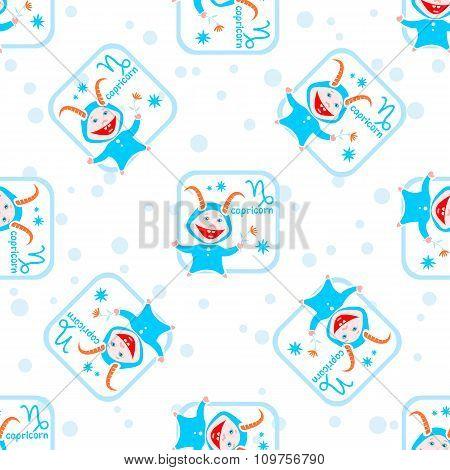 capricorn seamless pattern