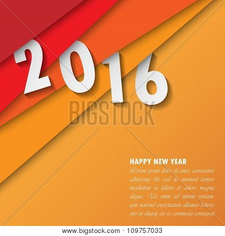 2016 Happy New Year Background.vector.