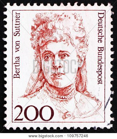 Postage Stamp Germany 1991 Bertha Von Suttner, Nobel Peace Prize Winner