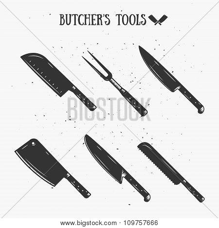 Vintage Butcher's Tools.